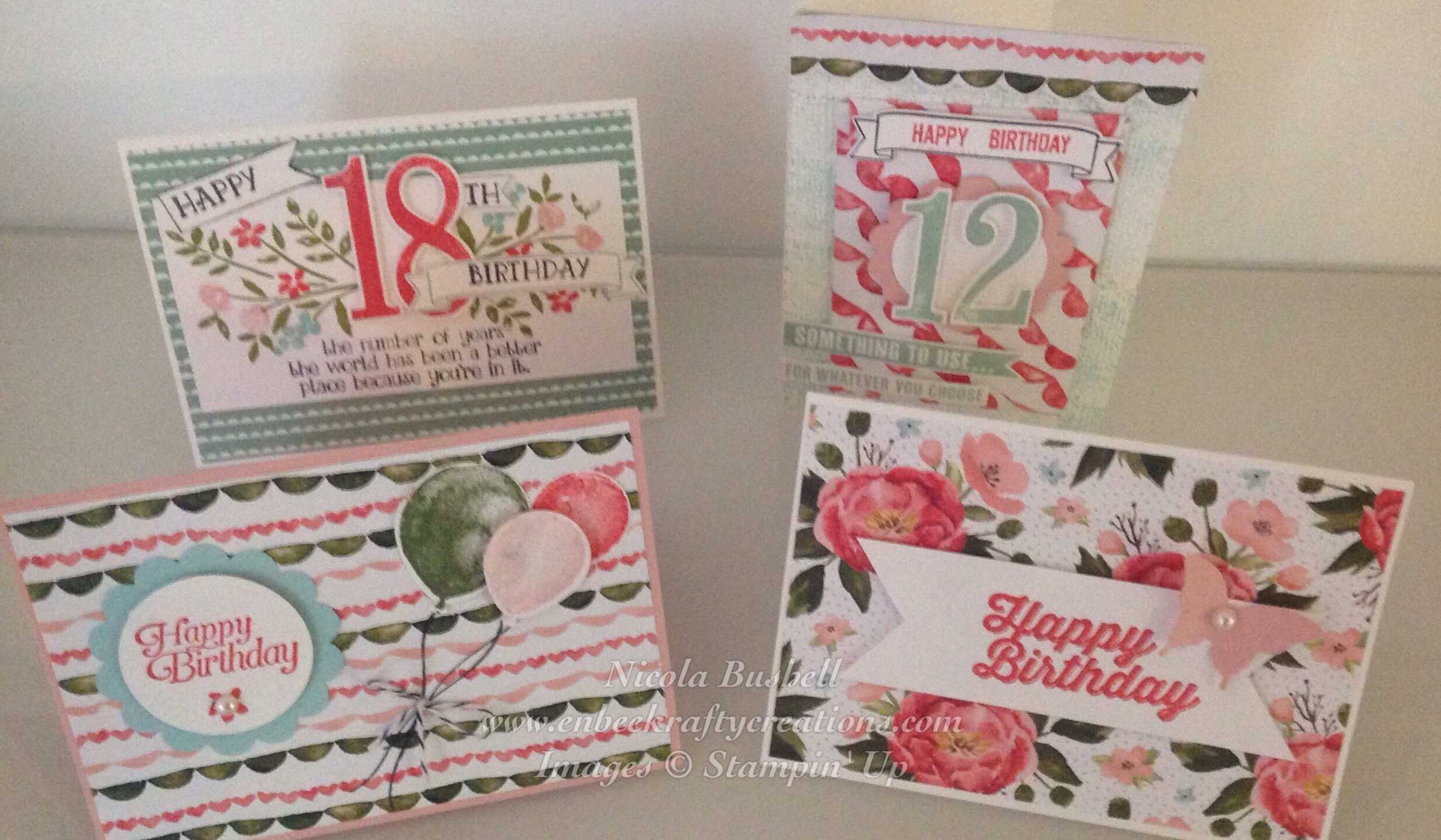 Birthday Greeting Card Stamp A Stack Class Nikki Jane Cards And